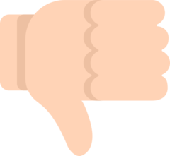Thumbs Down Sign mozilla emoji