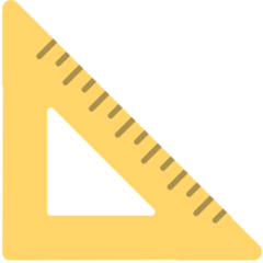 Triangular Ruler mozilla emoji
