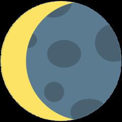 Waning Crescent Moon Symbol mozilla emoji