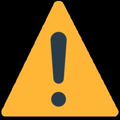 Warning Sign mozilla emoji