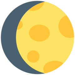 Waxing Gibbous Moon Symbol mozilla emoji