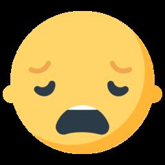 Weary Face mozilla emoji