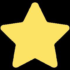 White Medium Star mozilla emoji