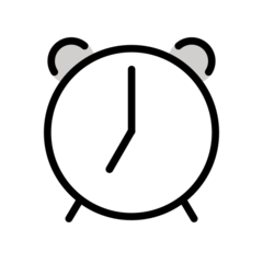 Alarm Clock openmoji emoji