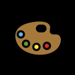 Artist Palette openmoji emoji