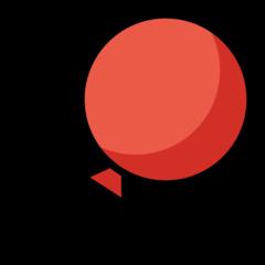 Balloon openmoji emoji