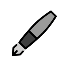 Black Nib openmoji emoji