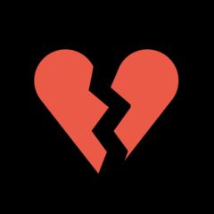 Broken Heart openmoji emoji