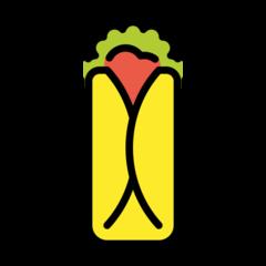 Burrito openmoji emoji