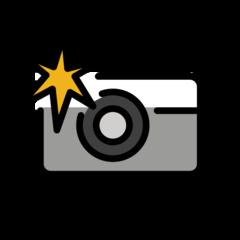Camera With Flash openmoji emoji