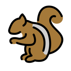 Chipmunk openmoji emoji