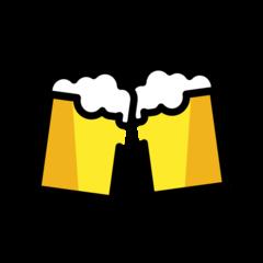 Clinking Beer Mugs openmoji emoji