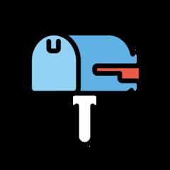 Closed Mailbox With Lowered Flag openmoji emoji