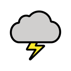 Cloud With Lightning openmoji emoji