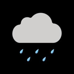 Cloud With Rain openmoji emoji
