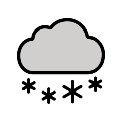 Cloud With Snow openmoji emoji