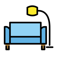 Couch And Lamp openmoji emoji