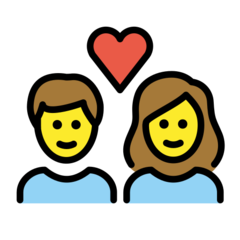 Couple With Heart openmoji emoji