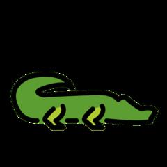 Crocodile openmoji emoji