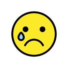 Crying Face openmoji emoji