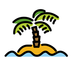Desert Island openmoji emoji