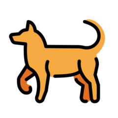 Dog openmoji emoji
