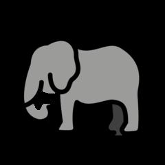 Elephant openmoji emoji