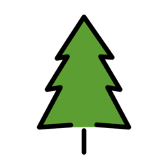 Evergreen Tree openmoji emoji
