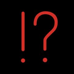 Exclamation Question Mark openmoji emoji