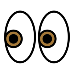 Eyes openmoji emoji