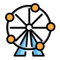 Ferris Wheel openmoji emoji