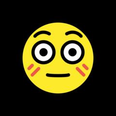 Flushed Face openmoji emoji