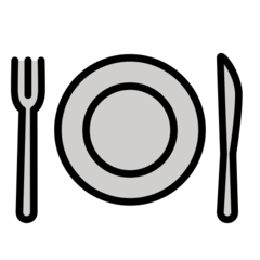 Fork And Knife With Plate openmoji emoji