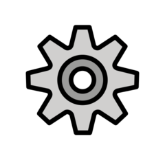 Gear openmoji emoji