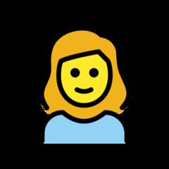 Girl openmoji emoji