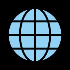 Globe With Meridians openmoji emoji