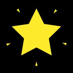 Glowing Star openmoji emoji