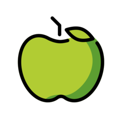 Green Apple openmoji emoji