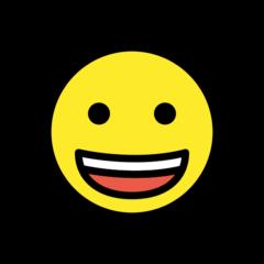Grinning Face openmoji emoji