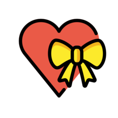 Heart With Ribbon openmoji emoji