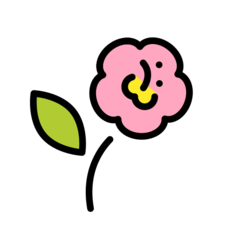 Hibiscus openmoji emoji