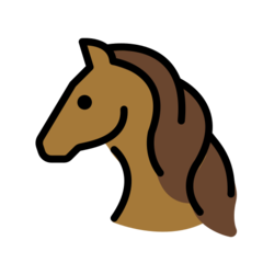 Horse Face openmoji emoji