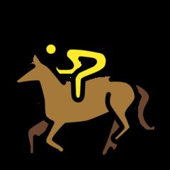 Horse Racing openmoji emoji