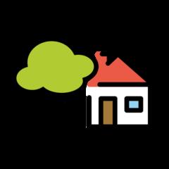 House With Garden openmoji emoji