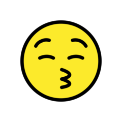 Kissing Face With Closed Eyes openmoji emoji