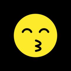Kissing Face With Smiling Eyes openmoji emoji