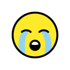 Loudly Crying Face openmoji emoji