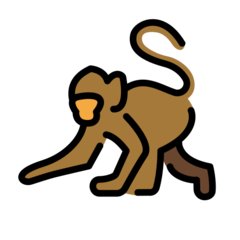 Monkey openmoji emoji