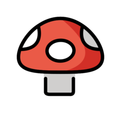 Mushroom openmoji emoji