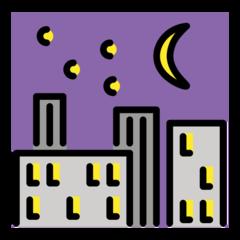 Night With Stars openmoji emoji